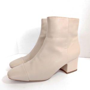 Zara cream suede ankle boots